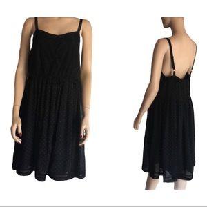 Torrid black polka dot & lace dress